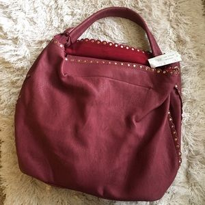 Wine colored handbag