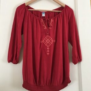 Red Maternity Top