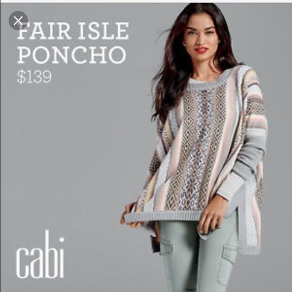 57% off CAbi Sweaters - Rare CAbi Fair Isle Poncho Sweater M GUC ...