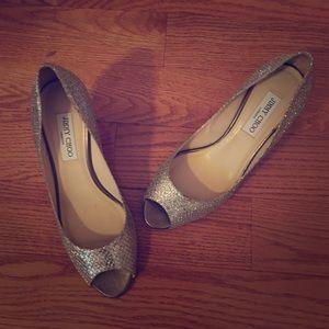 Jimmy Choo peep-toe heels