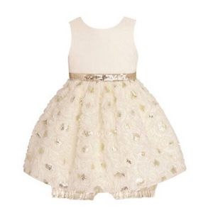 American Princess Other - 💥American Princess Ivory & Gold Sequin Dress Baby