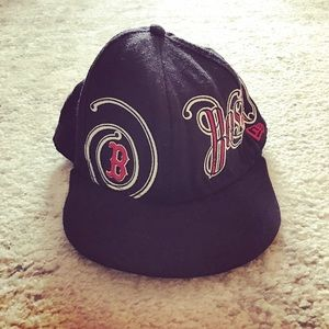 New Era Other - Navy blue wool Boston Red Sox fitted cap