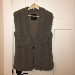 Evereve Jackets & Blazers - Jack Faux Fur Vest with Pockets