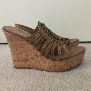 MIA Shoes - Platform Wedge Sandals