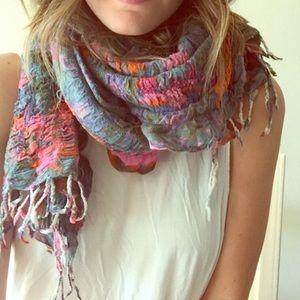 Anthropologie crinkle watercolor scarf