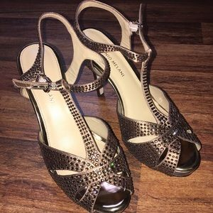 ANTONIO MELANI Shoes - Sparkling strappy heels size 8.5 fit like 8 though