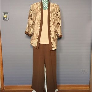 Other - Tan and Milk Chocolate Pant Suit