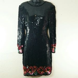VTG Sequin Party Dress