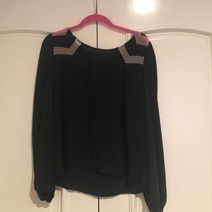 Xhilaration black blouse