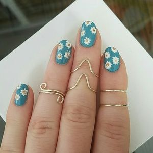 Jewelry - 🌼HP 4/21/17🌼Sterling silver midi rings!