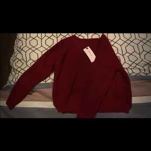 Size small Maroon cropped sweater