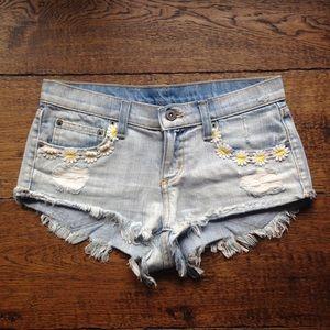 LF Carmar Floral Denim Shorts
