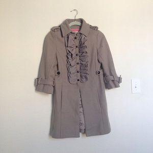Anthropologie Manoush ruffle coat