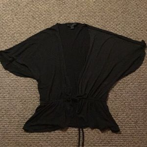 Batwing, tie waist shrug