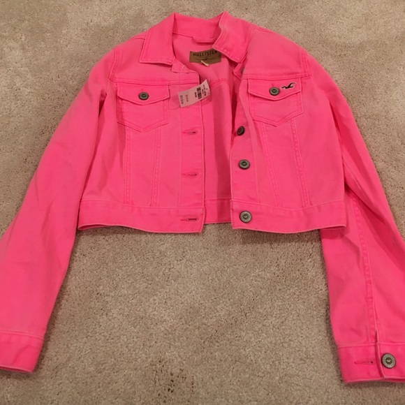 buy online sale online arriving Hollister - hot pink jean jacket, NWT NWT