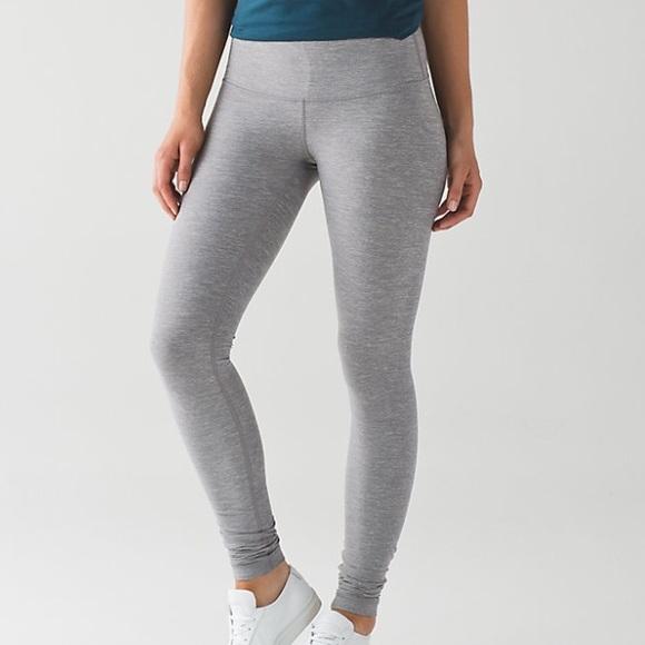 f8f06a5cb214f lululemon athletica Pants - NWOT Lululemon heather grey wunder under  leggings
