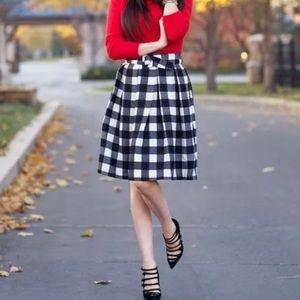 Chicwish Gingham Checked Skirt