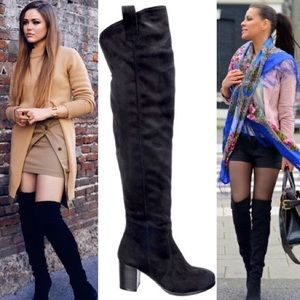 Leoninus Shoes - Pull Strap Over-the-Knee Boots black