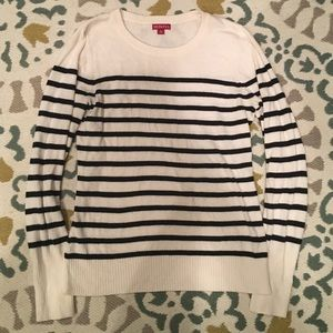 Target Black and White Striped Crew Sweater