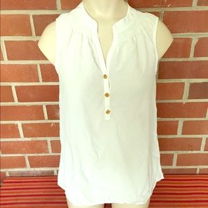 Lilly Pulitzer 100% silk sleeveless blouse XS