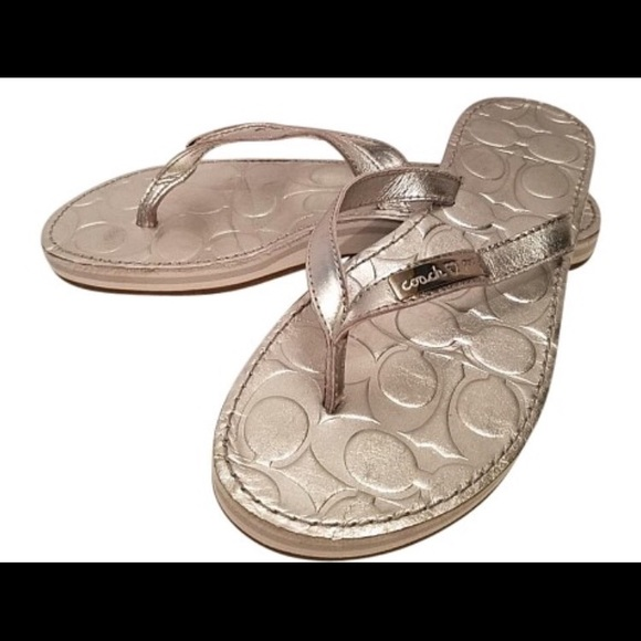 83 Off Coach Shoes - Coach Poppy Wilma Silver Leather -7923