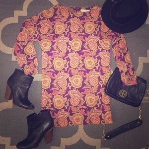 Loft paisley shift dress