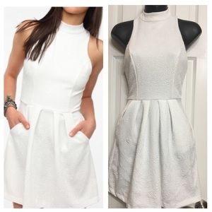 NWOT WHITE HALTER DRESS XS