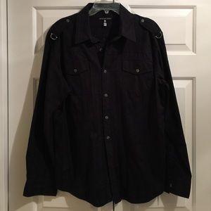 Men's Black Affliction Shirt with Cross sz X-Large