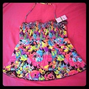 Kenneth Cole Reaction Other - New w/ Tags! Bright Floral Swim Top