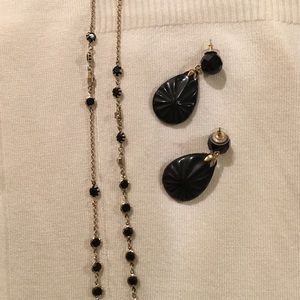 Jewelry - Earrings and necklace.