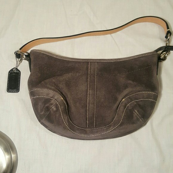 85% off Coach Handbags - NWOT Coach grey suede hobo 😍 from ...