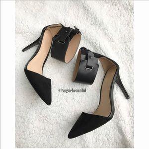 Zara Shoes - ZARA Pointed Toe Ankle Strap Heels