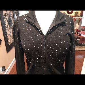 Beautiful sparkle black cardigan sweater 