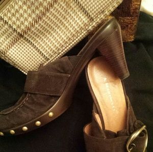 A. Marinelli Shoes - A. Marinelli Brown Suede  Mule Shoes