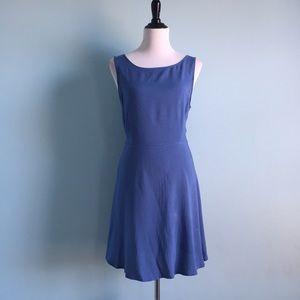 BONGO Dresses & Skirts - Blue Fit & Flare T-Back Dress