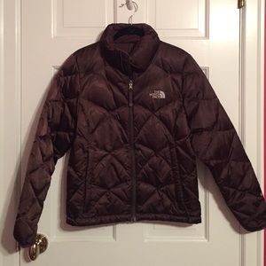 North face chocolate brown coat