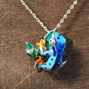 Jewelry - Collectable Silver / Enamel Frog Pendent