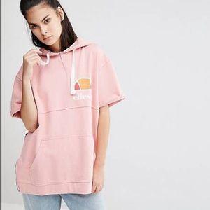 Ellesse Tops - Pink short sleeve hoodie