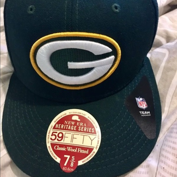 New Era Green Bay Packers fitted cap size 7 5 8 7042ce1a593c
