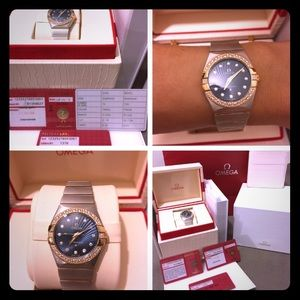 Omega Accessories - Omega  constellation watch, still whit gold 18k