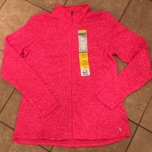 Danskin Jackets & Blazers - Super Charge Pink Sweater Fleece Jacket Lg New