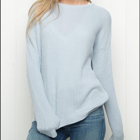 Brandy Melville Sweaters - NWOT Brandy Melville Blue Ollie 2337f6998