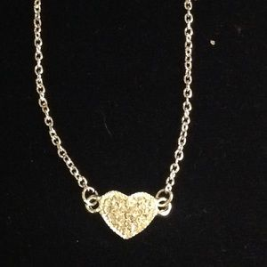 Jewelry - Silver Bling Heart Necklace