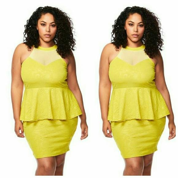 Dresses Plus Size Neon Dress 1x 2x 3x Poshmark