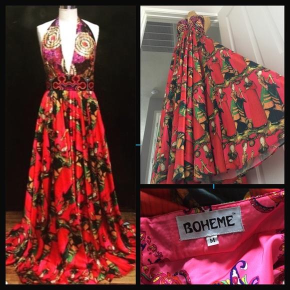 Free People Dresses Meghan La Boheme Bali Maxi Dress In Red Poshmark