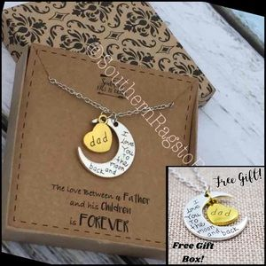 Jewelry - I Love You to the Moon and Back Dad Necklace