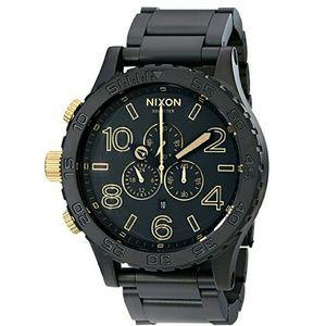 nixon Other - NWT nixon 51-30 Chronograph matte black watch