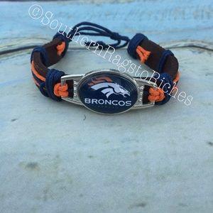 NFL Denver Broncos Adjustable Leather Cuff Unisex