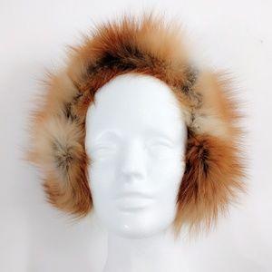 VINTAGE GENUINE Red Fox FULL FUR Earmuffs