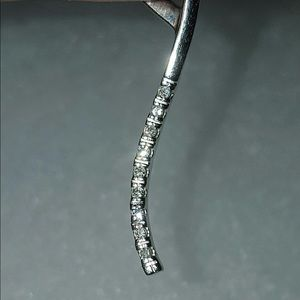 Zales Jewelry - 10K White Gold Diamond Pendent